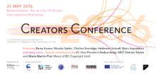 Invitation Creators Conference 2016